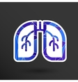 Lungs icon isolated on white background vector image vector image