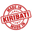 made in kiribati red grunge round stamp vector image vector image
