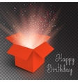 Magic Box with Confetti and Magic Light Happy vector image vector image