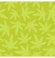 Marihuana ganja weed seamless pattern green vector image vector image