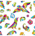 mexican talavera ceramic tile pattern with vector image vector image