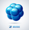 Molecular structure vector image vector image