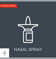 nasal spray icon vector image vector image