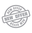 new offer rubber stamp vector image vector image