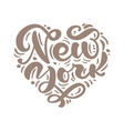 new york city calligraphy text in form heart vector image