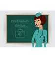 Occupation doctor profession vector image