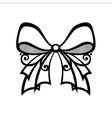 Ornamental Decorative Bow vector image vector image
