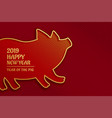 pig golden silhouette for chinese new year vector image