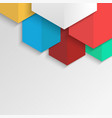polygonal colorful abstract background for vector image vector image