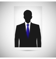 Profile picture whith blue tie Unknown person vector image