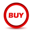 Red buy icon vector image vector image