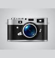 retro camera vector image vector image
