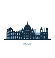 rome skyline monochrome silhouette vector image
