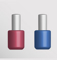 round glossy nail polish bottle with cap vector image
