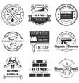set vintage home repair labels badges vector image vector image