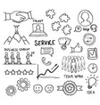sketch of customer loyalty service support vector image vector image