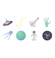 space technology icons in set collection for vector image