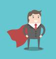 super businessman hero vector image vector image