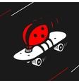 Symbol Ladybug Speed Skating vector image