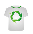 T Shirt Template- Recycle shoes vector image vector image
