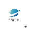 travel agency logo trip logo design vector image vector image
