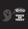 trick or treat poster happy halloween scary ghost vector image vector image