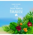 Tropical Background With Monstera vector image