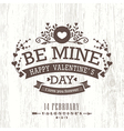 valentine day card with floral vintage banner sign vector image vector image
