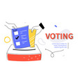 voting - modern colorful flat design style web vector image