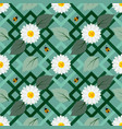 white flowers seamless repeat pattern with ladybug vector image vector image