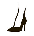 woman feet in high heels icon vector image