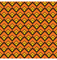Yellow seamless square pattern background vector image