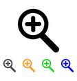 zoom in stroke icon vector image vector image