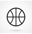 basketball icon black on white background vector image