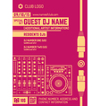 minimal design night party flyer template with vector image