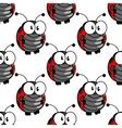 Ladybug seamless background pattern vector image