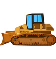 Yellow building bulldozer vector image