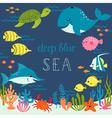 Cute deep blue sea vector image