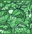 seamless art pattern green color vector image