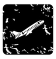 Airplane icon grunge style vector image