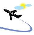 airplane in flight vector image vector image