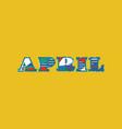 april concept word art