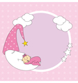 baby girl sleeping vector image vector image