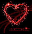 background with a heart to the day of the holy vector image vector image