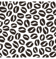 black coffee beans pattern vector image