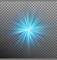 blue burst color forces light eps 10 vector image vector image