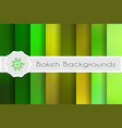 bokeh backgrounds set vector image vector image