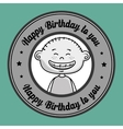Boy cartoon happy birthday
