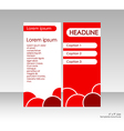 Bright cover brochure title and three options vector image vector image