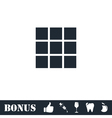 Building block icon flat vector image